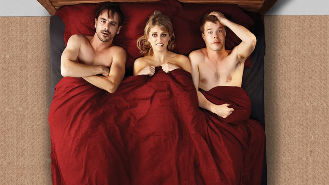 The adult channel threesomes, sleeping nude with friends